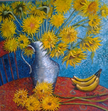 sunflowers and bananas